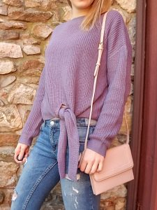 37eba504a I shared this sweater with you all in my color of the year blog post. This  front tie sweater is from Target and amazingly soft. If you didn't know  already I ...