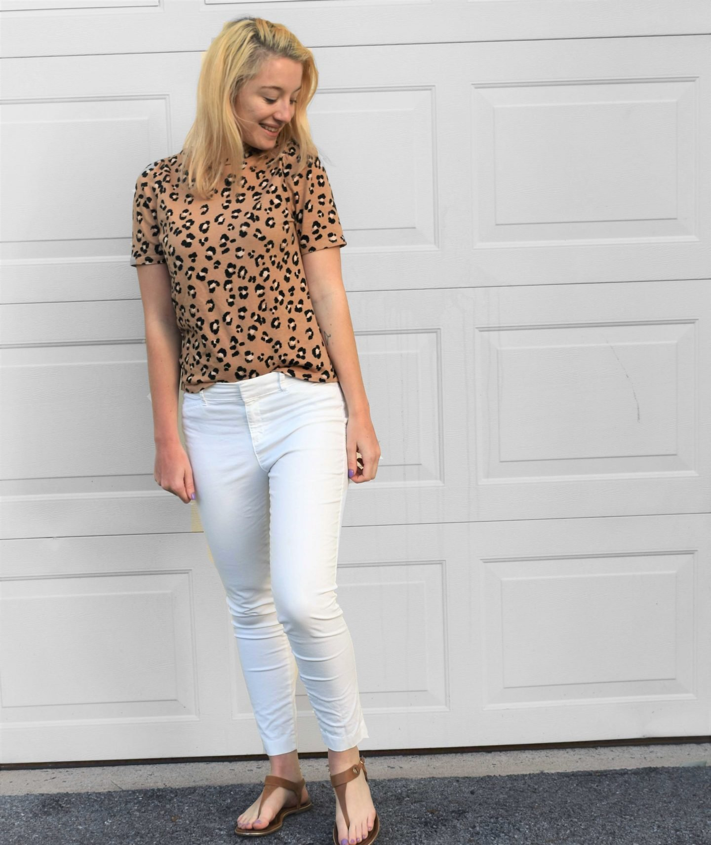 Leopard print tee from Target spring summer outfit