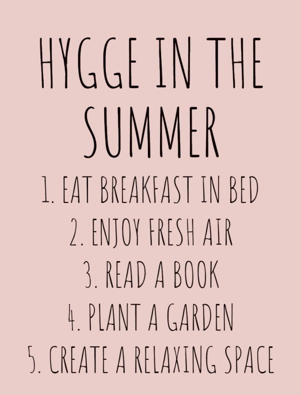 How You Can Do Hygge in the Summer