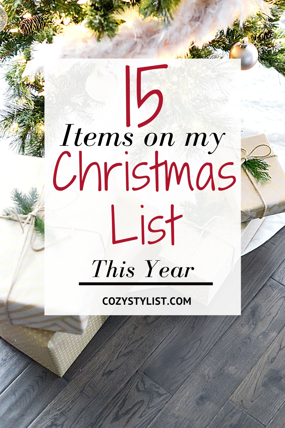 Christmas list items